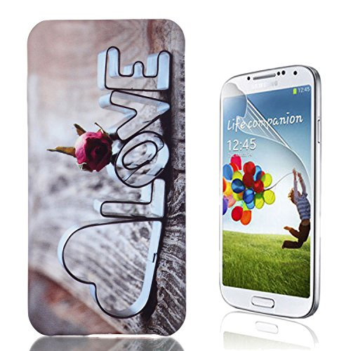 Samsung Galaxy S6 Edge Plus Caso, Samsung Galaxy S6 Edge Plus Cover, Bonice Ultra Sottile PC Hard Back Antiurto Shock-Absorption Durable Case Love + 1x Protezione Dello Schermo Screen Protector Pattern 10