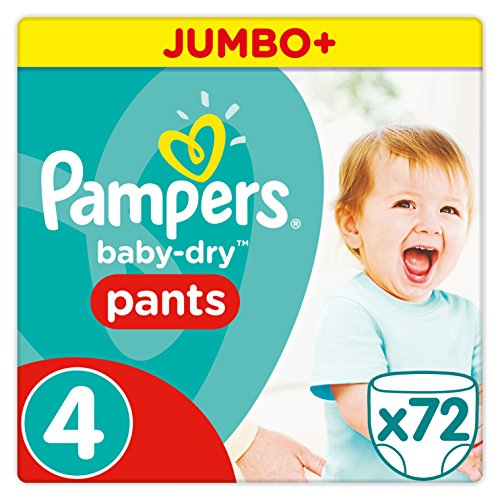 Preisvergleich Produktbild Pampers Baby-Dry Pants Größe 4 (Maxi) 8-15 kg, 1er Pack (1 x 72 Windeln)