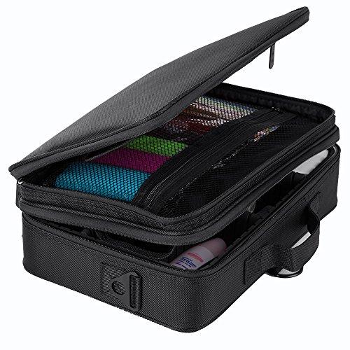 Hotrose Professhional Makeup Brush Bag Handle Shoulder Bag with Shoulder Strap(Small) (13.5 inch cosmetic case)