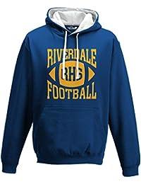 KiarenzaFD Sudadera Capucha Bico Riverdale Archie Andrews Football 9 impresión fronte-Retro Serie TV Cult