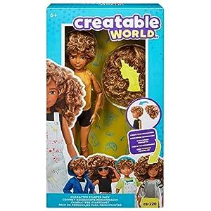 Creatable World pack de personajes, cabello con rizos juguete para niños y niñas +6 años (Mattel GKV43)