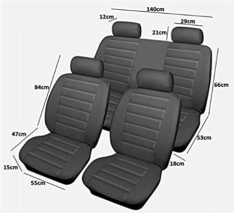 Other 1 Leatherlook Grey Car Van Seat Covers Front & Rear Easy Fit Slip On
