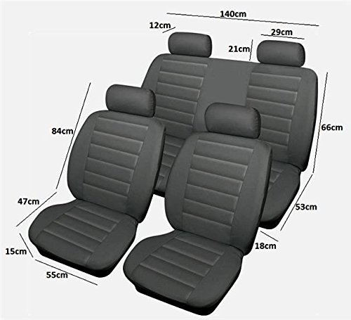 acura-rl-full-set-of-grey-soft-leather-look-car-seat-cover-protectors