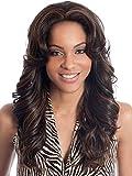 Lange Lockige Perücke Frauen Wellig Braunes Haar Natürliche Synthetische Hochwertige Perücke