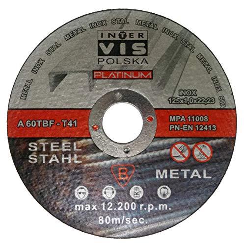 25pezzi Disco diamantato per acciaio 125X 1,0mm usato  Spedito ovunque in Italia