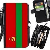 STPlus Bandera de Transnistria Monedero Con Correa y Cremallera Carcasa Funda para LG G4c / LG Magna
