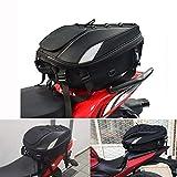JFG RACING Motorcycle Seat Bag/Tail Bag - Dual Use Motorcycle Backpack Waterproof Luggage Bags Motorbike Helmet Bag Storage Bags