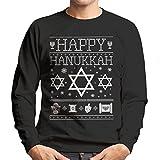 Happy Hanukkah Star Of David Knit Men's Sweatshirt