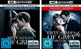 Fifty Shades of Grey - 1 Geheimes Verlangen + 2 Gef�hrliche Liebe (Unmaskierte Filmversion) - 4K Ultra HD im Set - Deutsche Originalware  Bild