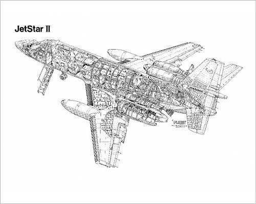 photographic-print-of-lockheed-jetstar-ii-cutaway-drawing