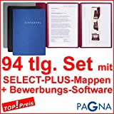 30 dreiteilige Bewerbungsmappen ROT / BORDEAUX + 30 DIN B4 Versandtaschen + 30 Adressetiketten + Etikettenvorlage + Bewerbungssoftware + Extras