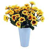 Eazeehome 10pcs Set künstliche Gefälschte Seide Gerbera Sonnenblumen Bouquet Floral Blumengarten Zuhause Dekor