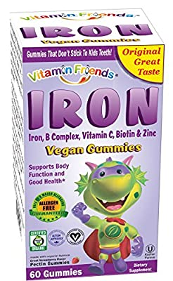 Vitamin Friends, IronBear Gummies, Grape, 15 mg, 60 Pectin Bears from Better Nutritionals LLC