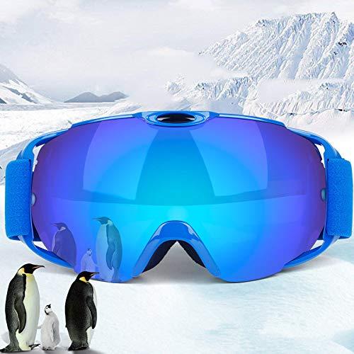Yiph-Sunglass Sonnenbrillen Mode Outdoor Ausrüstung Bergsteigen Schneebrille Ski Anti-Fog und Sand-Beweis große sphärische Gläser für Männer, (Farbe : Blue Frame)