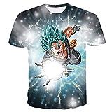 Beiläufiges Kurzarm T-Shirt Dragon Ball Z T-Shirt Herren 3D T-Shirt Super Saiyajin Goku Brolly Gedruckt Top T-Shirt Camiseta Hombre (Farbe : #23, größe : XXL)
