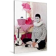 Premium Textil-Leinwand 80 cm x 120 cm  hoch, Mesto | Wandbild, Bild auf Keilrahmen, Fertigbild auf echter Leinwand, Leinwanddruck: Weiße Geige auf Reisen: Der traurige Clown (CALVENDO Kunst)