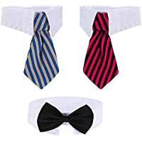 3 Stücke Justierbare Haustier Hunde Katzen Fliege Haustier Kostüm Krawatte Kragen für Kleine Hunde Welpen Pflegen Zusätze