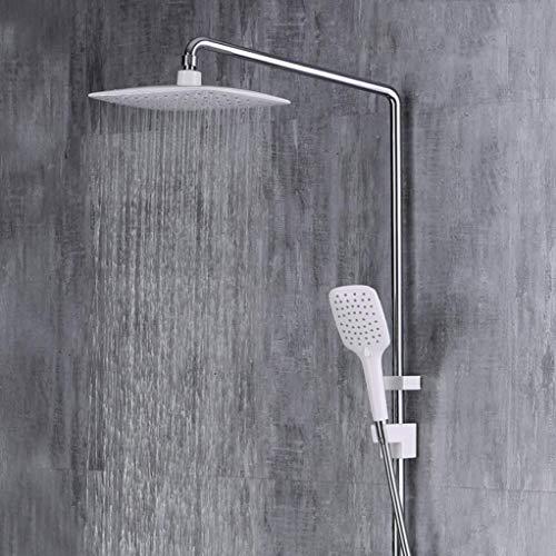 LHW Shower Set chset, Handbrause, Bambus Lange quadratische Spitze warm, kalt Duschkopf, Multifunktions-Dusche, Bad-Erweiterung einstellbare Dusche, Aufzug Wand-Dusche