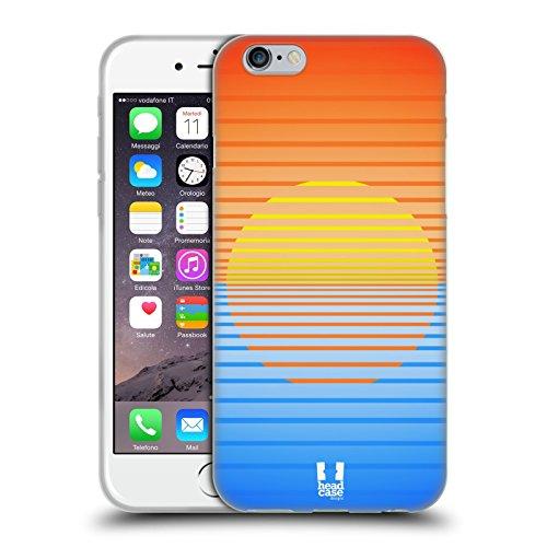 Head Case Designs Schwarz Und Weiss Dynamische Streifen Soft Gel Hülle für Apple iPhone 7 / iPhone 8 Sonnenuntergang
