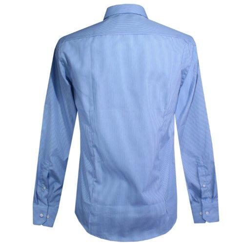 Venti, langarm Hemd, 001590-100, himmelblau royal weiss gestreift [14559] Himmelblau