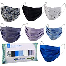Mediweave Reusable 100% Cotton Cloth Face Mask- Fixed Identical Design Type (Pack of 7, MultiColor)