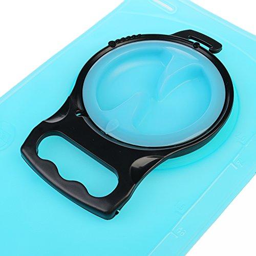 Newmany FDA Platypus Wasser Blase am besten für Reiten automatische Ventil und Tubing Sleeve 2L Oliven / blauen Wasser Tasche für Langzeit-Outdoor-Sport Blau