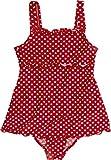 Playshoes Mädchen Badeanzug , gepunktet UV-Schutz nach Standard 801 und Oeko-Tex Standard 100 Badeanzug mit Rock in rot mit weißen Punkten 461035, Gr. 116, Rot(8 rot)