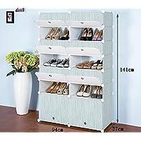 Global-DIY Multi-couches imperméables résistant à la poussière résine en plastique montage chaussures rack, simple multifonction dortoir ménage Shoe Cabinet ( taille : 49 37 72cm )