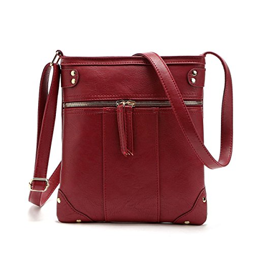 Mode Handtasche Liu Nail Messenger Bag Schulter Umhängetasche,Red Red