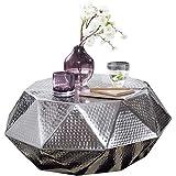 Wohnling Diamant Couchtisch, Aluminium, Silbern, 73x28,5x73 cm