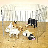 Pets Empire Foldable Metal Pet Dog 6 Panel Playpen Exercise Fence Pen with Gate (60 X 60 cm)