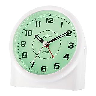 Acctim 14282 Central Smartlite-Wecker mit schleichender Sekunde, Weiß