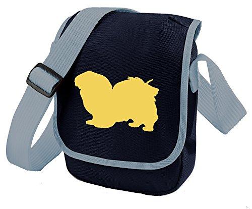 Bag Pixie ,  Unisex Erwachsene Umhängetaschen Fawn Dog Blue Bag