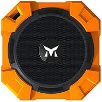 Monstercube Armor Speaker Bluetooth arancione, portatile, 5W di potenza in uscita, bassi alta qualità / Resistente all'acqua / Resistente alla polvere / Resistente agli urti, universalmente compatibile con tutti i telefoni, tablet, pc, ottimo per doccia e attività all'aria aperta, vivavoce portatile con microfono incorporato per agevolare le chiamate