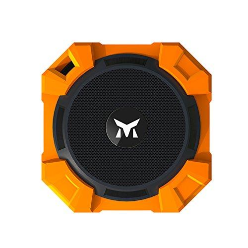 Monstercube armor Altavoz Bluetooth Portátil con subgraves y Manos Libres (Impermeable IPX5) - Potente Altavoz Inalámbrico Equipo al aire libre mini altavoz, Compatible con iPhone6s, Samsung S7/ galaxy J5, Huawei P8, HTC, Motorola Moto G, color naranja
