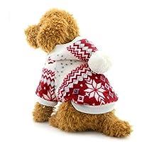 ranphy pequeño perro con capucha jersey copo de nieve perro abrigo con forro polar sudadera con capucha para Gatos ropa de cachorro perro prendas de vestir