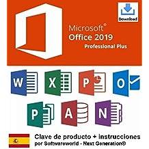 Clave de producto Office Professional Plus 2019 de 32/64 bits, incluidas las instrucciones de Softwareworld - Next Generation®