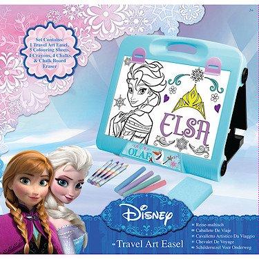 Disney – La Reine des Neiges – Chevalet de Voyage – Pupitre à Dessin + Accessoires