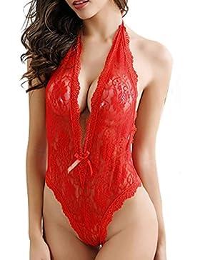 [Patrocinado]Ropa Interior Mujer,Mujeres sexy Plus Size encaje babydoll ropa interior lencería vestido ropa de dormir