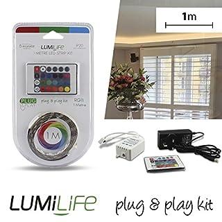 Lumilife LED Plug & Play Strip Kit–1m Länge–RGB (Mehrfarbig)