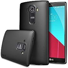 LG G4 Funda - Ringke SLIM ***Funda Cobertura Completa Top y Bottom*** [Protector Pantalla HD Gratis][SF BLACK] Avanzada Dual Coating Tecnología Todo Al Rededor La Protección Del Estuche Rígido para LG G4 (NO es compatible con LG G4 cuero) - Eco Paquete