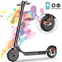 COLORWAY Electric Scooter CX900 Folding Scooter With APP, 7.5Ah Battery - 380W Motor - Max speed 25KM / H, Super shockproof 8.5 inches - Double Braking System