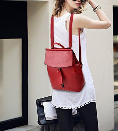LAIDAYE Frau Fashion Reisetasche Mit Großer Kapazität Red