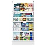 Homfa boekenkast standaard voor kinderplank wandplank kinderkamer kinderplank opbergplank 58x12x110cm