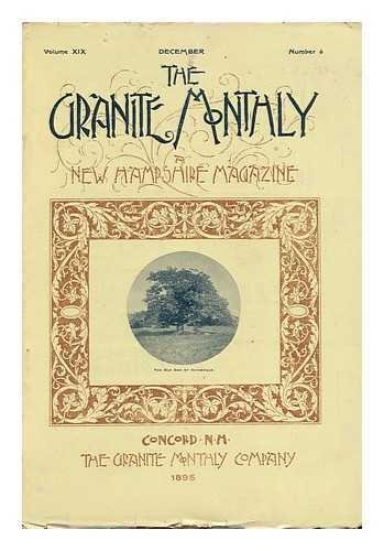 The Granite Monthly: a New Hampshire Magazine, Volume XIX, December 1895, Number 6
