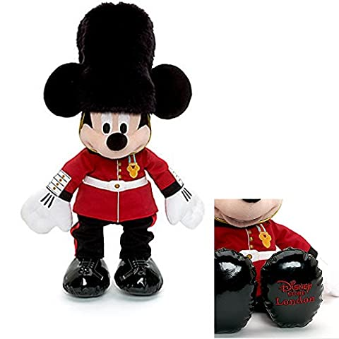 Official Disney Mickey Mouse 45cm English Buckinghamshire Palace Guard Soft Plush Toy