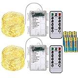 Best F&W String Lights - SoulBay 2pcs 20ft 60-LED Waterproof IP68 Copper Wire Review