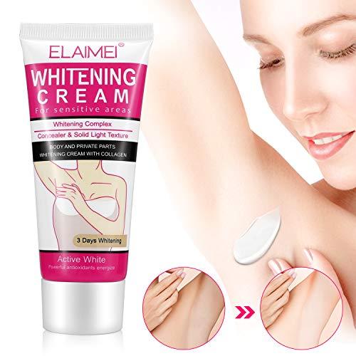 Whitening Cream, MayBeau Achselhöhle Creme Body Cream für Dunkle Haut, Hals, Empfindliche Bereiche, Ellenbogen, Innere Oberschenkel, Knie Körper Aufhellung Creme Haut Beauty Whitening Hautpflege -