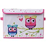UberLyfe Kids Toy Storage Box with Pink ...