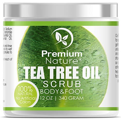 Machen Meer Salz Peeling (Antimykotisches Teebaumöl Fuß & Körper Peeling - Hautpeeling mit Totes Meer Salz gegen Fußpilz Pickel Unreine Haut Tea Tree Bodyscrub Körperpeeling)